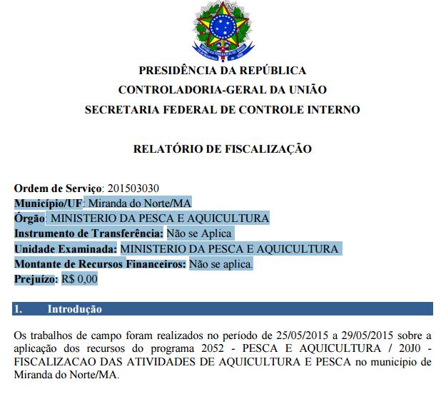 Auditoria da controladoria-Geral da União (CGU)