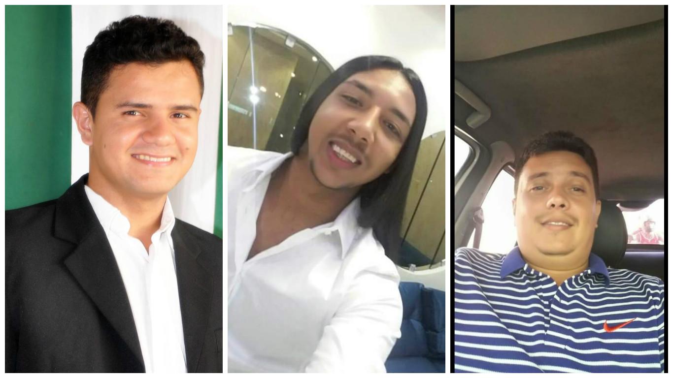 Vereadores Eduardo Rocha, Romário Cigano, Paulinho Dourado