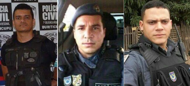 Tenente Josuel, Soldado Tiago Viana e o Soldado Glaydstone