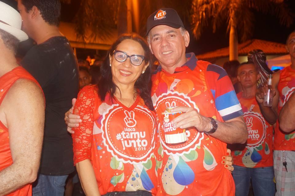 Ex-prefeita Helena Pavão e Luiz Raimundo Lobato.