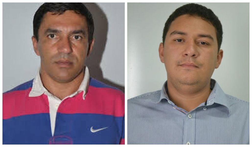 Adailton Ferreira, ex-prefeito de Fernando Falcão e Gustavo Augusto, ex-prefeito de Jenipapo dos Vieiras.