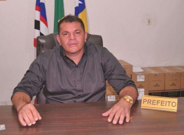 Prefeito de Cantanhede-MA, Marco Antônio, vulgo 'Ruivo'.