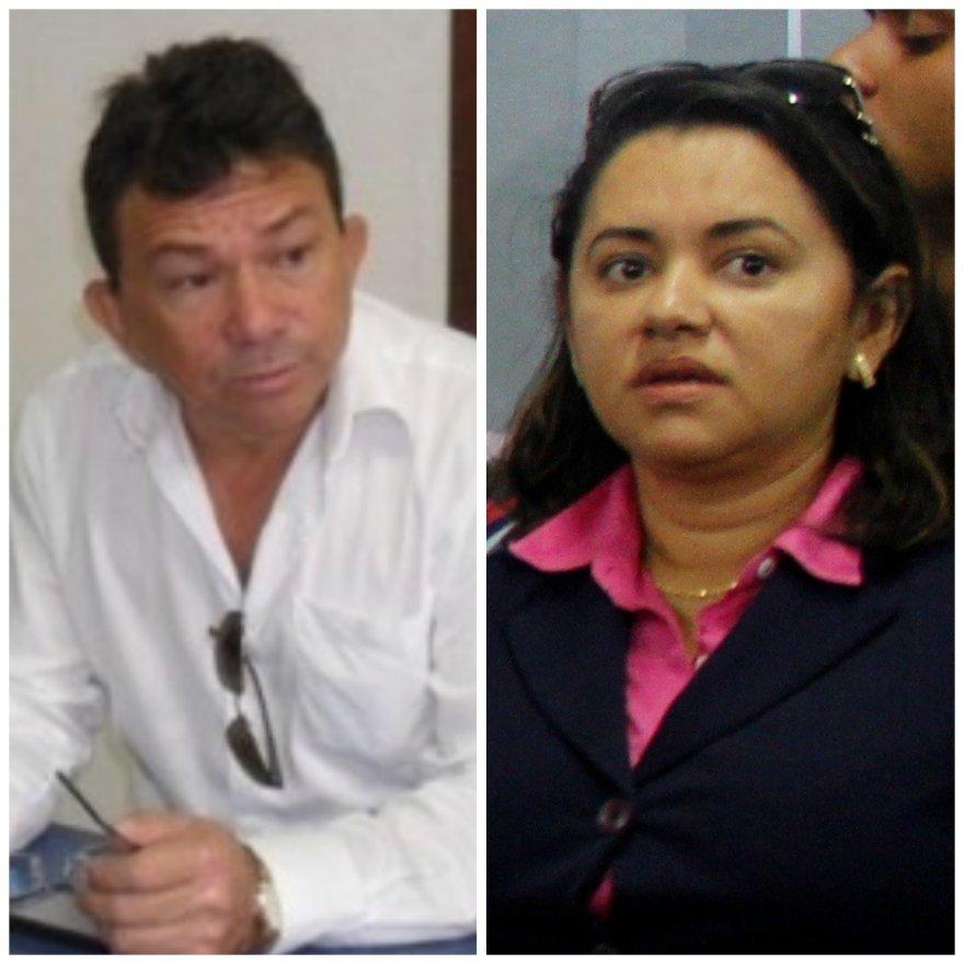 Prefeito Mazinho Leite e advogada Edna Matos.
