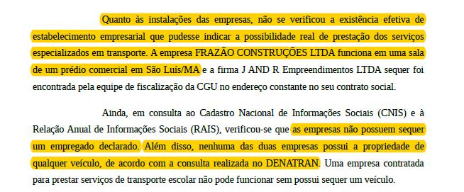 Controladoria-Geral da União (CGU) constatou várias irregularidades na empresa.