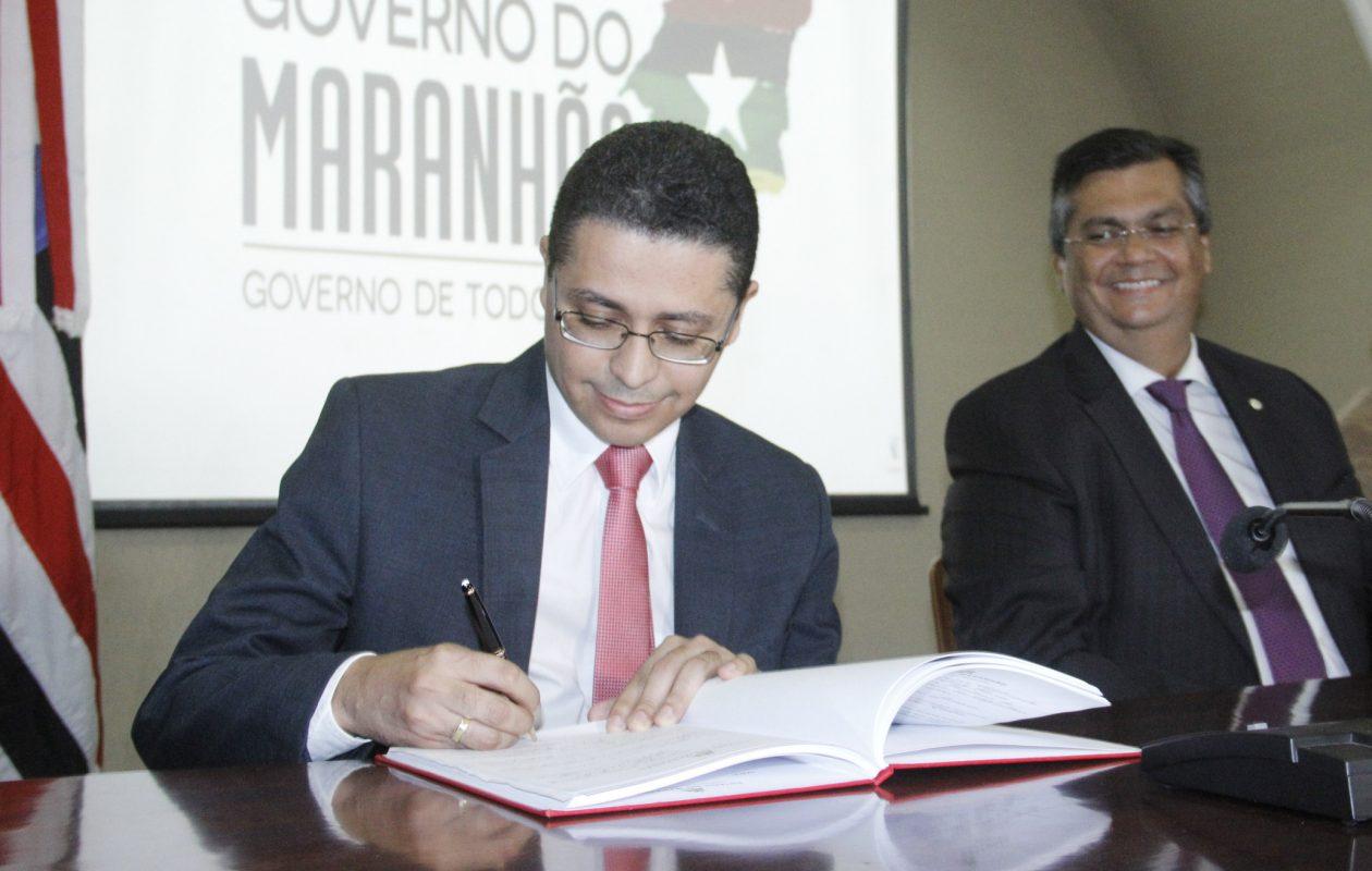 Secretário de Saúde do Maranhão, Carlos Lula, e Fávio Dino.